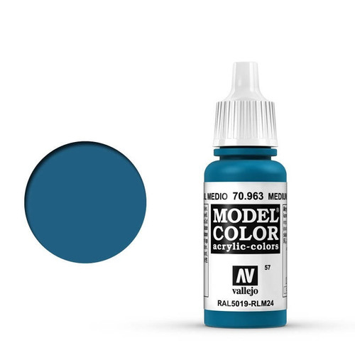 Model Color Medium Blue Acrylic Paint 17ml AV70963