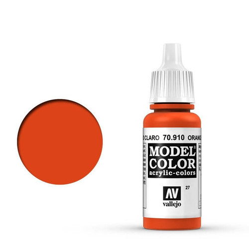 Model Color Orange Red Acrylic Paint 17ml AV70910