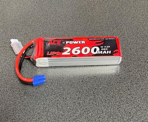 2600Mah SC 4S 40C EC3 ACE2600SC404SEC3