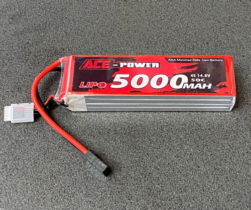 5000MAh Soft Case 50c 4s with Traxxas Connector ACE5000SC504STRX