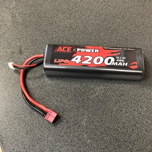 7.4v 4200mAh 40c Round Hard Case Deans Connector