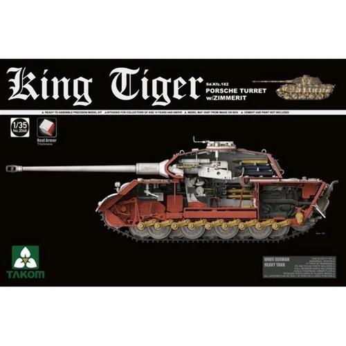 Sd.Kfz.182 King Tiger Porsche Turret w/Zimmerit 1/35 2046S