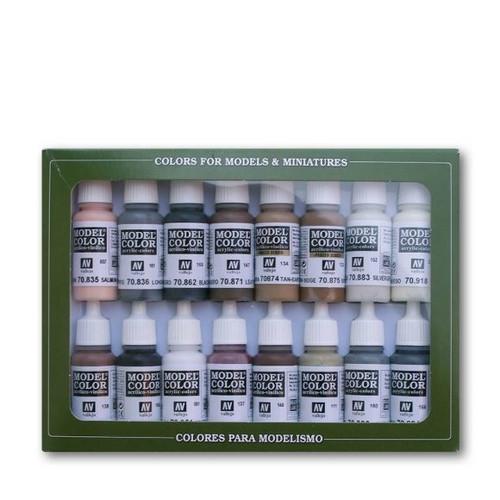 Model Color Equestrian Colors Acrylic Paint Set (16x17ml) AV70144