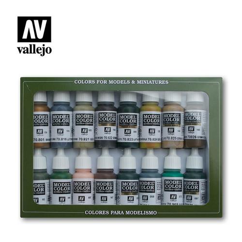 German Camouflage WWII Acrylic Paint Set (16x17ml) AV70114