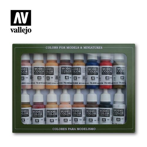 16 Face & Skintones Acrylic Paint Set (16x17ml) AV70125