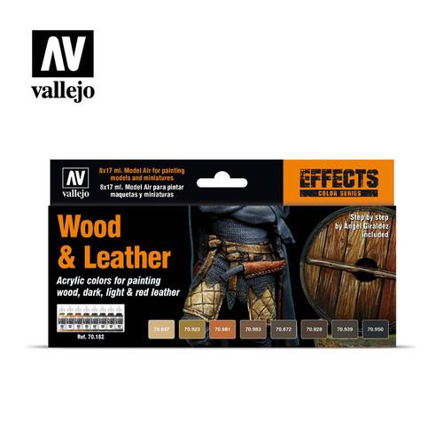 Model Color Wood & Leather Acrylic Paint Set (8x17ml) AV70182