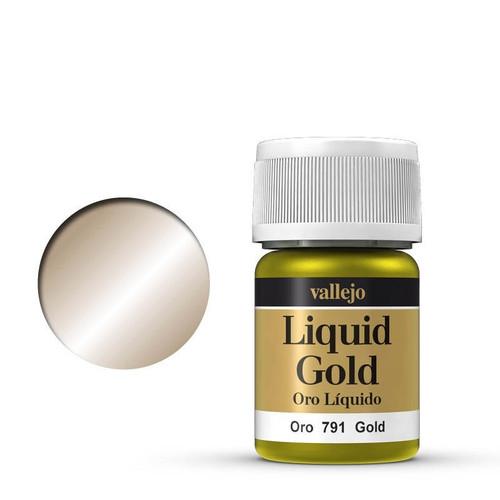 Model Colour Liquid Gold - Metallic Gold (Alcohol Base) Acrylic Paint AV70791