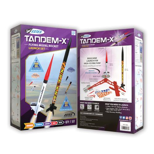 Tandem-X (2 rockets) Intermediate Model Rocket Launch Set EST-1469X