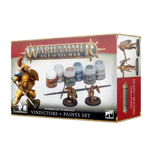 Age of Sigmar Stormcast Eternals Vindicators + Paints Set 60-10