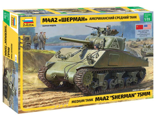 1/35 M4A2 Sherman (75mm) Medium US Tank WWII ZV3702