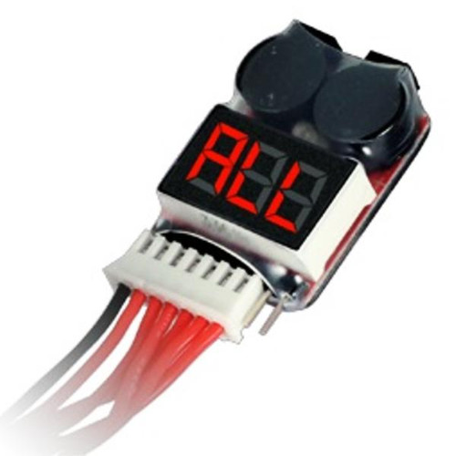1-8S LiPo Battery Voltage Meter with Alarm HDT-CB07026