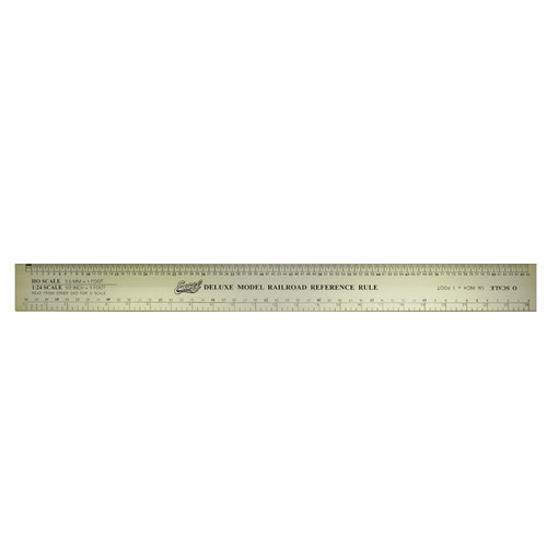 Deluxe Model Railroad Ruler EXL55778