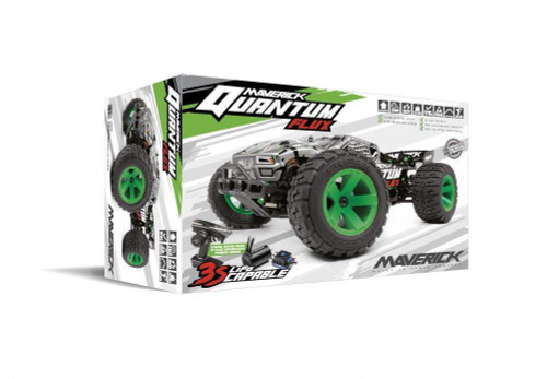 1/10 Quantum XT 4WD Flux 80A Brushless Electric Truggy (Silver/Green) MV150208