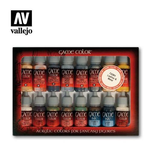 Game Color Leather & Metal Acrylic Paint Set (16x17ml) AV72291