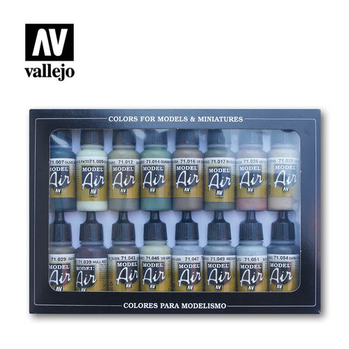 Model Air Allied Forces WWII Acrylic Paint Set (16x17ml) AV71180