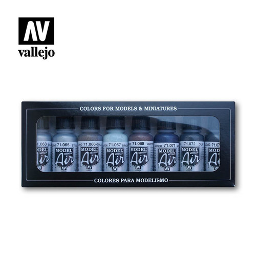 Model Air Metallic Colors Acrylic Paint Set (8x17ml) AV71176