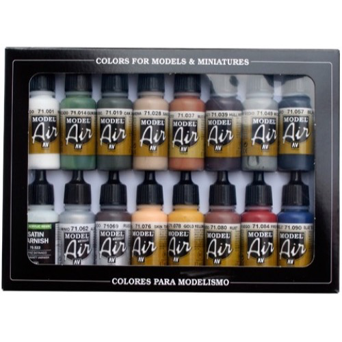 Model Air Railway Colors Acrylic Paint Set (16x17ml) AV71191