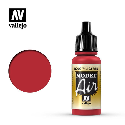 Model Air Red Acrylic Paint 17ml AV71102
