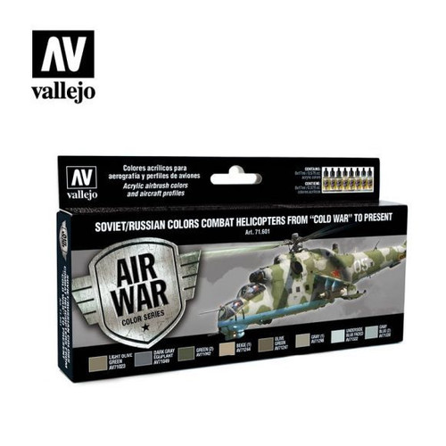 Model Air Soviet/Russian Combat Helicopters Post WWII to Present Acrylic Paint Set (8x17ml) AV71601