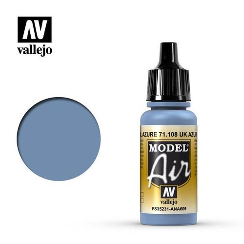Model Air UK Azure Blue Acrylic Paint 17ml  AV71108