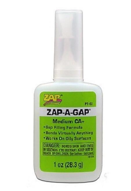 Adhesive Zap-A-Gap Ca 1oz Green PT02