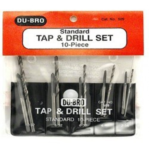 10PC Standard Tap & Drill Set DUBRO509
