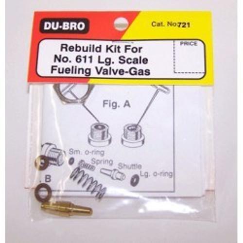 Rebuild Kit 611 LG Fuel Valve Gas DUBRO721