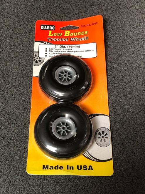 """Treaded Low Bounce Wheels 3"""" DUBWH300T"""