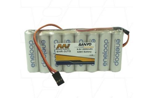 Eneloop Transmitter 9.6V 2AH Flat NiMh Battery Pack