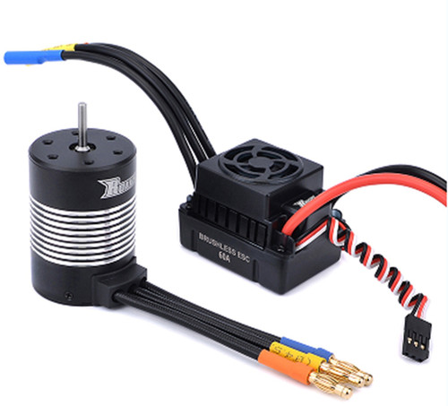 Rocket Waterproof 3650 Sensorless Motor 4300kv with 60A ESC Combo SUR-79826