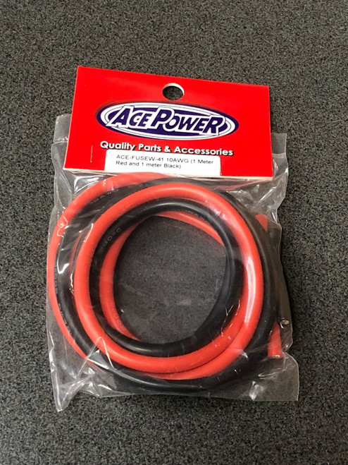 1m red and 1m black 10AWG wire ACE-FUSEW-41