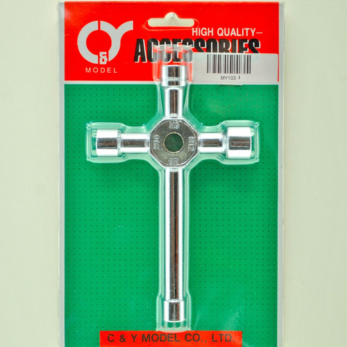 C.Y. Long Shaft 4/Way Wrench MY103