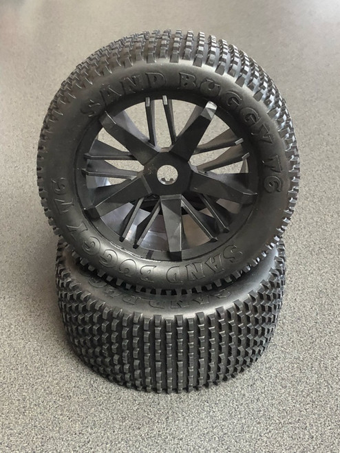 Rear Pin Tyres Complete HBX-TS059