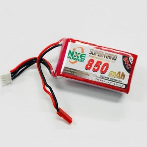 11.1V 850mAh 3S 30C Soft Case LiPo Battery w/JST 850SC303SJST