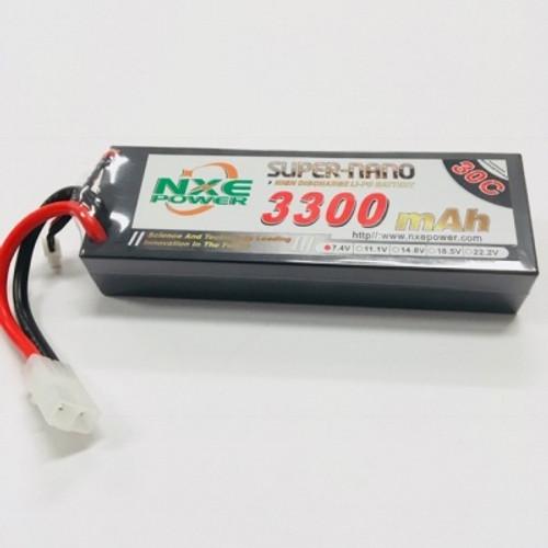 7.4V 3300mAh 2S 30C Hard Case LiPo Battery with Tamiya Plug 3300HC302STAMIYA