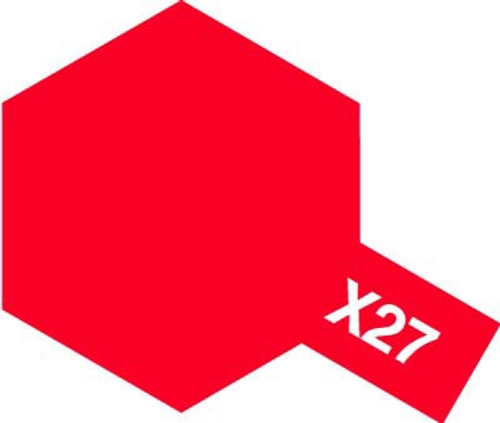 Acrylic Mini X-27 Gloss Clear Red Paint 10ml T81527