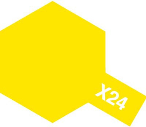 Acrylic Mini X-24 Gloss Clear Yellow Paint 10ml T81524