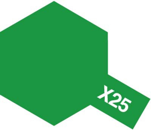 Acrylic Mini X-25 Gloss Clear Green Paint 10ml T81525