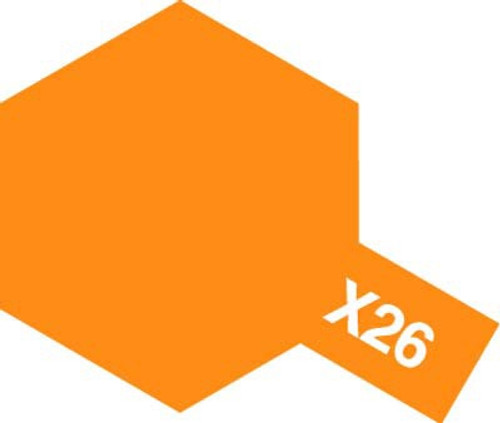 Acrylic Mini X-26 Gloss Clear Orange Paint 10ml T81526
