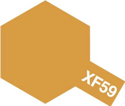 Acrylic Mini XF-59 Flat Desert Yellow Paint 10ml T81759
