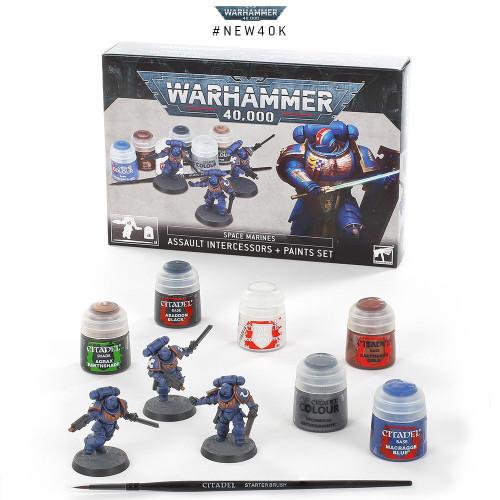 Space Marines Assault Intercessors + Paints Set 60-11