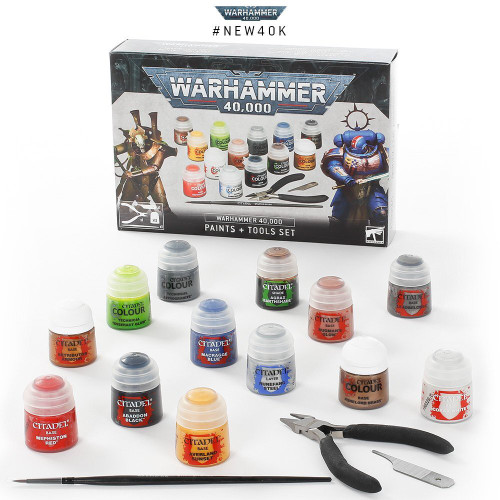 Warhammer 40,000 Paints + Tools Set 60-12