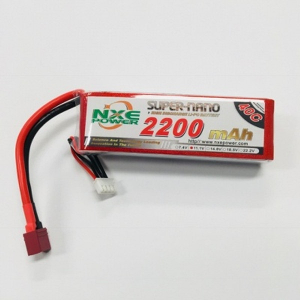 11.1V 2200mAh 3S 40C Soft Case LiPo Battery  with Deans 2200SC403SDEAN