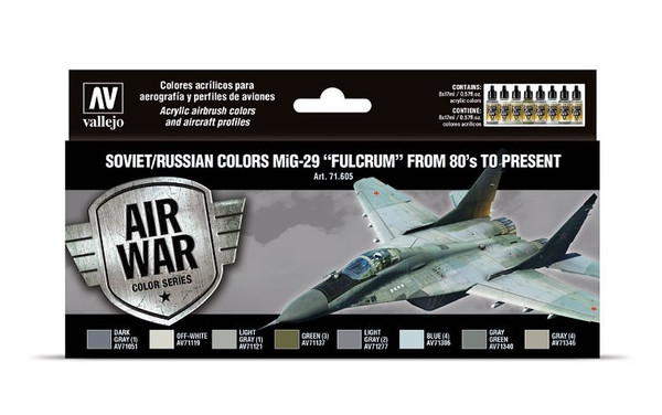 "Soviet/Russian Colors MiG-29 ""Fulcrum"" from 80's to Present AV71605"