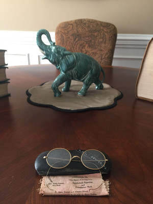 Complete Set of Turn of the Century Gold Glasses from Lancaster, PA