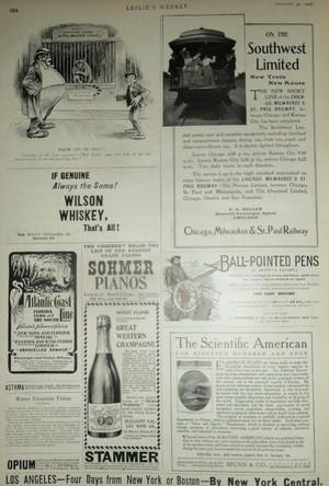Beautiful Page of 1903 Ads, Railways