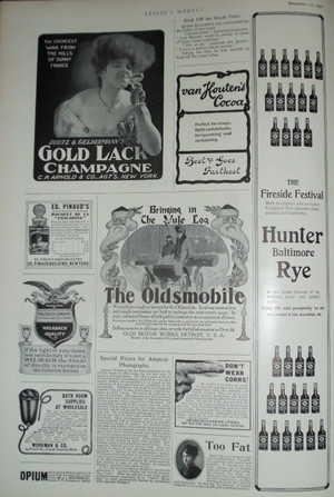 Great Page of 1903 Ads, Oldsmobile