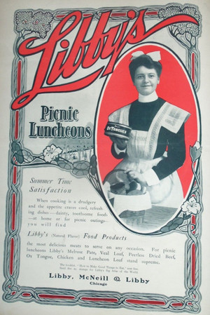 1903 Libby's Picnic Luncheons Full-Page Color Ad