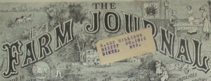 1916 Cover of The Farm Journal, Addressed to Ghost Town of Dietz, Wyoming