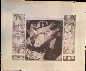 Rare Carl Otto Czeschka Prints, Plate 2